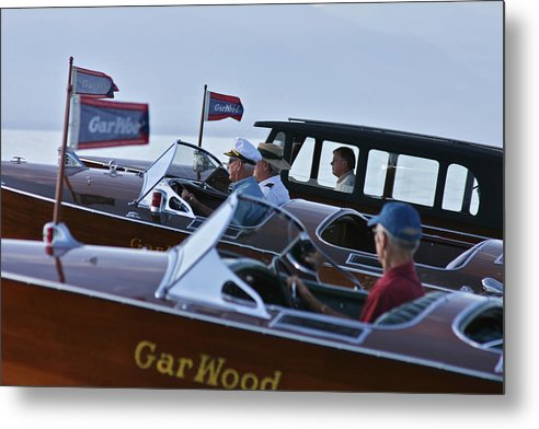 Runabout Metal Print featuring the photograph Gar Wood Masters by Steven Lapkin