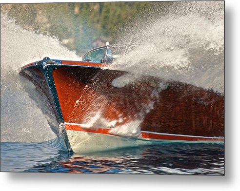 Runabout Metal Print featuring the photograph Riva Aquarama by Steven Lapkin