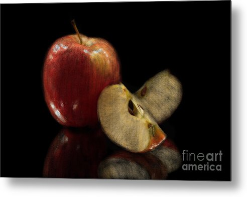 Apple Metal Print featuring the photograph Apple Still Life by Jeannie Burleson
