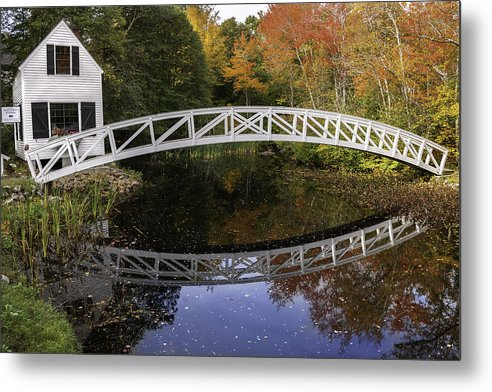 Arched Bridge Metal Print featuring the photograph Arched Bridge-somesville Maine by Thomas Schoeller