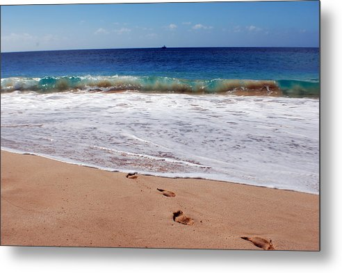 Metal Print featuring the photograph Big Beach by JK Photography