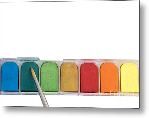 Paint Metal Print featuring the photograph Blank Canvas by Jeannie Burleson