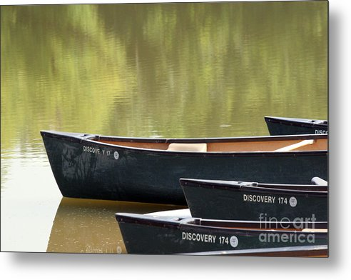 Canoe Metal Print featuring the photograph Calm Morning by Jeannie Burleson