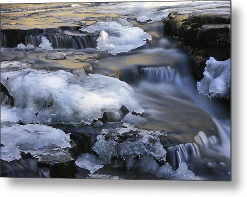 Waterfalls Metal Print featuring the photograph Campbell Waterfalls West Virginia by Jim Dohms