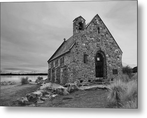 Landscape Metal Print featuring the photograph Church Of The Good Shepherd by Andrea Cadwallader