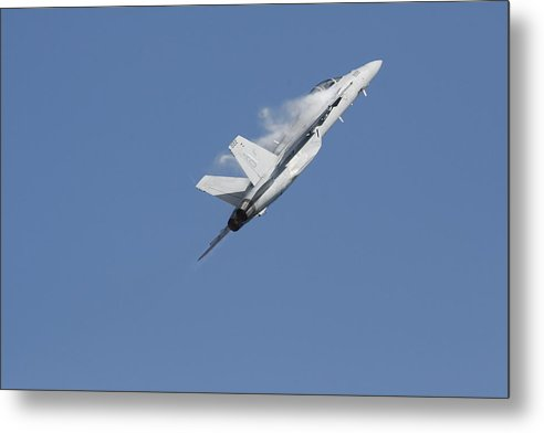 Fighter Metal Print featuring the photograph Compression II by Bill Linhares