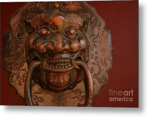 Metal Print featuring the photograph Doorknocker 01 by April Holgate