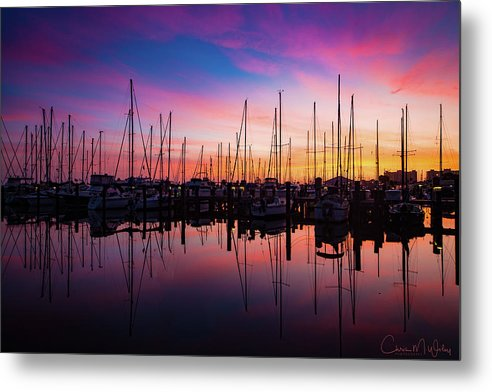 Marina Metal Print featuring the photograph Dreamy Marina by Chris M Wiley