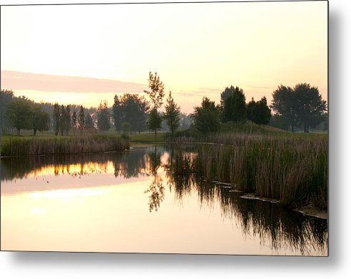 Golf Metal Print featuring the photograph Early Morning On The Golf Course by Martin Rochefort