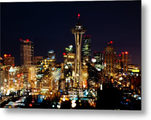 Seattle Metal Print featuring the photograph Earth Hour Spots A348 by Yoshiki Nakamura