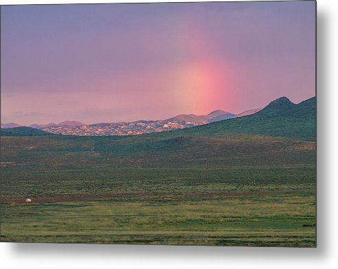 Rainbow Metal Print featuring the photograph End Of Rainbow by Hitendra SINKAR