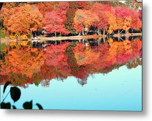 Landscape Metal Print featuring the photograph Fall Morning In East Lyme 2 by Gerald Mitchell