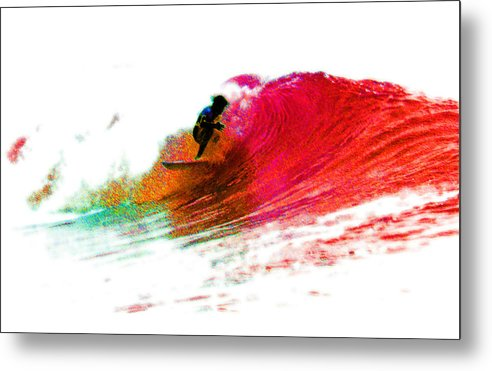 Surf Metal Print featuring the photograph Fire Water by David Coyle