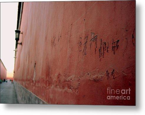 Graffiti Metal Print featuring the photograph Forbidden Graffiti by April Holgate