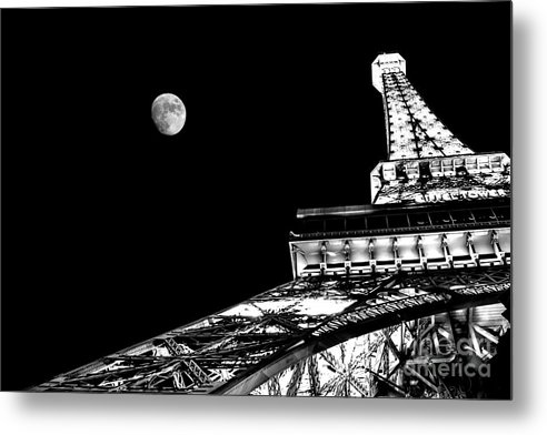 Eiffel Tower Metal Print featuring the photograph From Paris With Love by Az Jackson