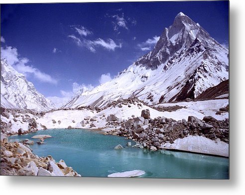 Landscape Metal Print featuring the photograph Gandharva Tal And Mount Shivaling by Sam Oppenheim