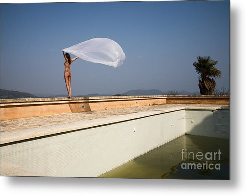 Sensual Metal Print featuring the photograph I Will Fly To You by Olivier De Rycke