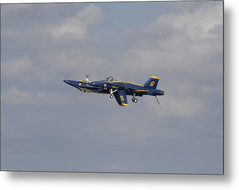 Blue Angels Metal Print featuring the photograph Inverted Wheelie by Bill Linhares