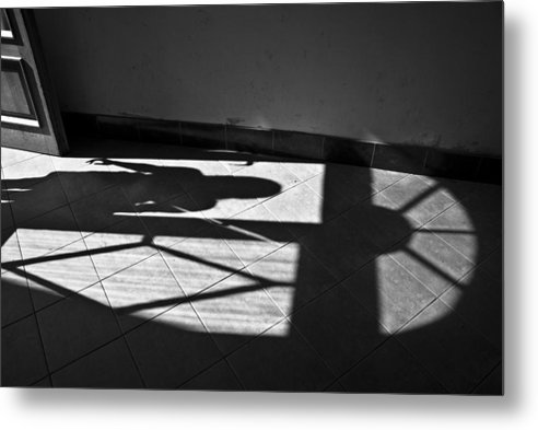 Shadow Metal Print featuring the photograph It Leaves... Do Not Hold It... by Vadim Grabbe