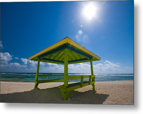 Sun Metal Print featuring the photograph Lime Blue by Ryan Heffron