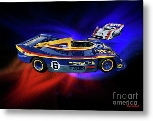Mark Donohue Metal Print featuring the photograph Mark Donohue And George Follmer Porsche by Blake Richards