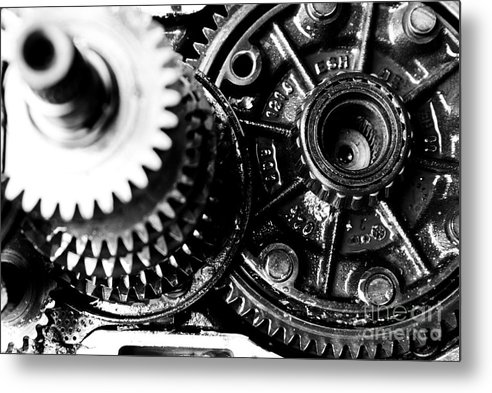 Gear Wheel Metal Print featuring the photograph Merry-go-round by Vadim Grabbe
