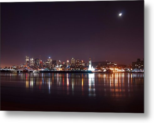 Night Photography Metal Print featuring the photograph Montreal At Night by Martin Rochefort