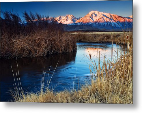 Eastern Sierra Metal Print featuring the photograph Owens River Sunrise by Nolan Nitschke