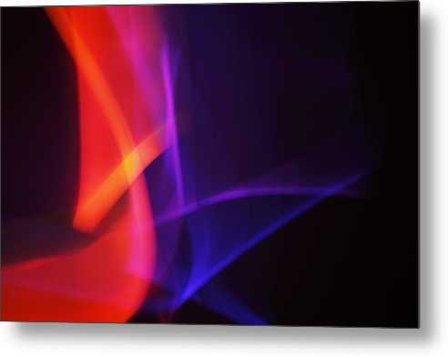 Abstract Metal Print featuring the photograph Painting With Light 4 by Chris Rodenberg