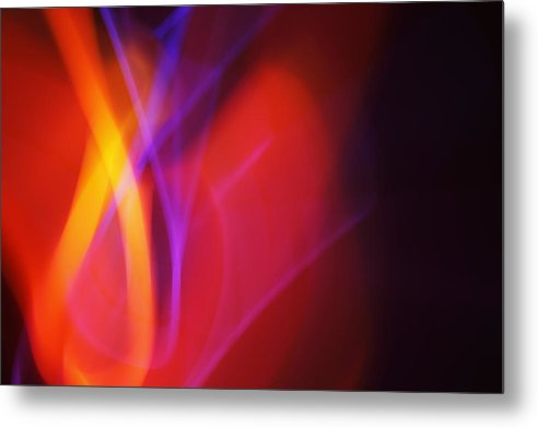 Abstract Metal Print featuring the photograph Painting With Light 7 by Chris Rodenberg