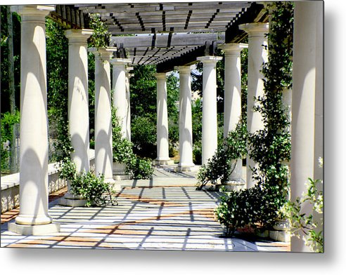 Pergola Metal Print featuring the photograph Pillars by Greg Sharpe