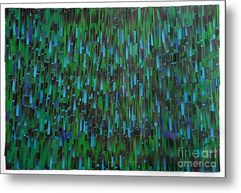 Mixed Media Metal Print featuring the mixed media Rain by Ken Falana