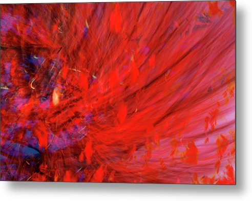 Red Metal Print featuring the digital art Red Wind by Guy Crittenden