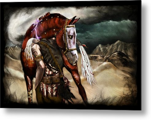 Fantasy Metal Print featuring the painting Ruined Empires - Skin Horse by Mandem