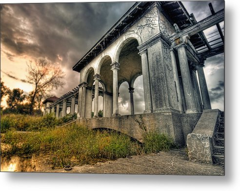 Landscape Metal Print featuring the photograph Ruins At Dusk by Ryan Heffron