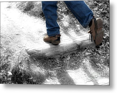 Run Metal Print featuring the photograph Run Away by Jeannie Burleson