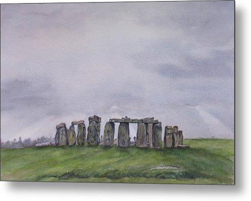Stonehenge Metal Print featuring the painting Stonehenge by Debbie Homewood