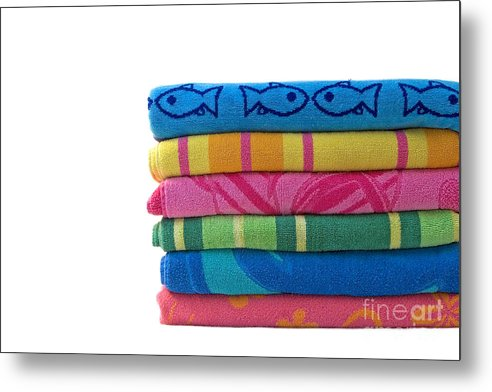 Beach Towel Metal Print featuring the photograph Summer Time 2 by Jeannie Burleson