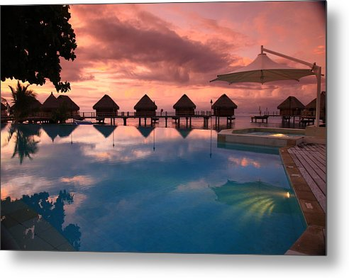 Tahiti Metal Print featuring the photograph Tahitian Sunset by Owen Ashurst