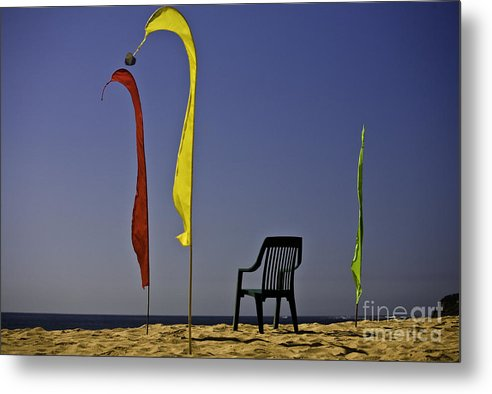 Beach Metal Print featuring the photograph The Empty Chair by Avalon Fine Art Photography