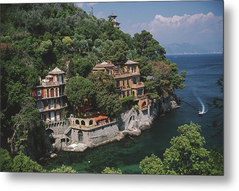 1980-1989 Metal Print featuring the photograph Portofino by Slim Aarons