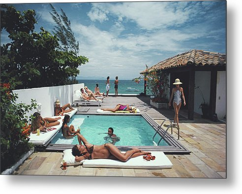 People Metal Print featuring the photograph Buzios by Slim Aarons