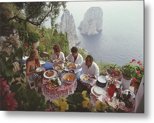 Artist Metal Print featuring the photograph Dining Al Fresco On Capri by Slim Aarons