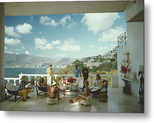 People Metal Print featuring the photograph Guests At Villa Nirvana by Slim Aarons