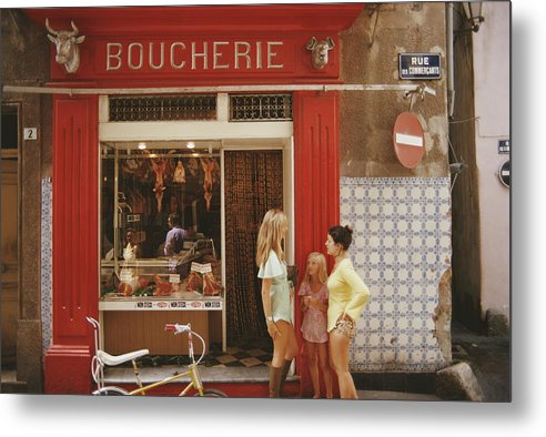 Child Metal Print featuring the photograph Saint-tropez Boucherie by Slim Aarons