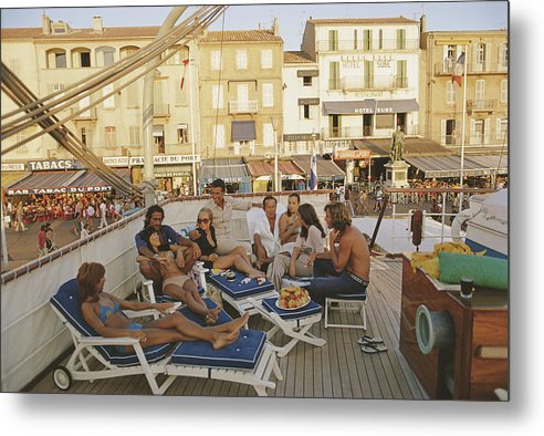 People Metal Print featuring the photograph Saint-tropez by Slim Aarons