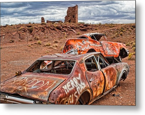Rt 66 Metal Print featuring the photograph Off Rt. 66 by Lou Novick