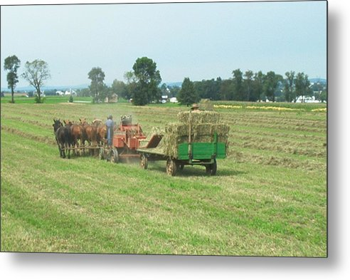 Farming Metal Print featuring the photograph American Farming by Eddie Armstrong