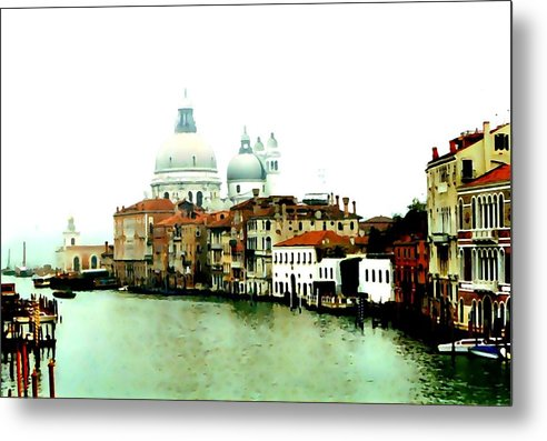 Venice Metal Print featuring the digital art Dorsodouro by Derrick Armitage