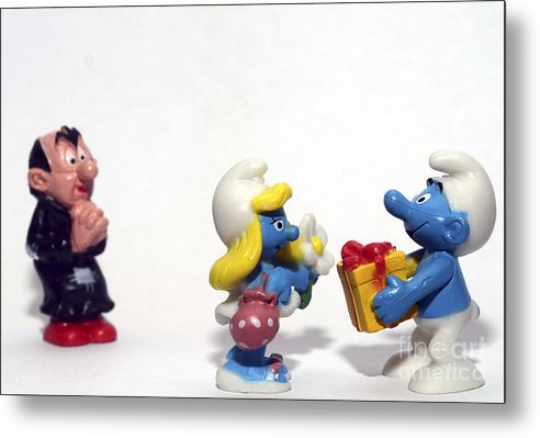 Smurf Metal Print featuring the photograph Smurf Figurines by Amir Paz